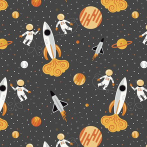 Orange and Grey Space Walk