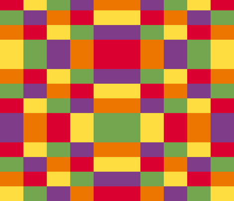 Kente inspired colors - plaid fabric by victorialasher on Spoonflower - custom fabric