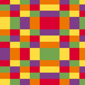 Kente inspired colors - plaid