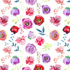 """Spring 2018 Painted Floral Collection RED 6"""""""