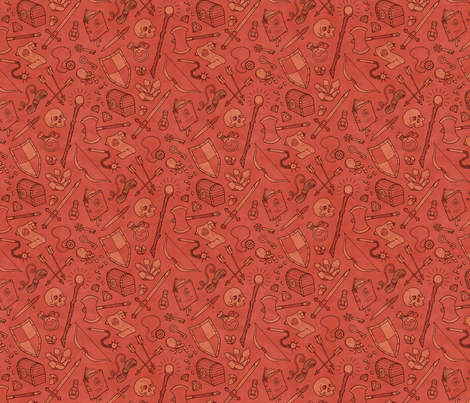 Inventory in Red fabric by katymakesthings on Spoonflower - custom fabric