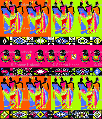 Ndebele inspired African Princesses.