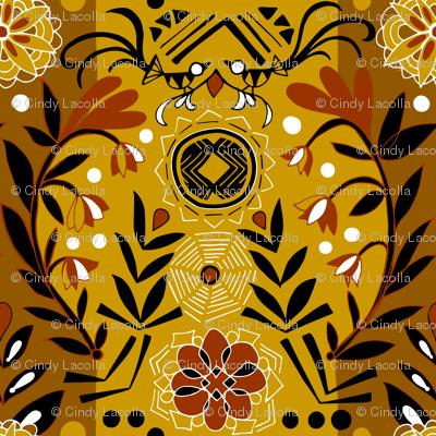 Mali Sun and Web Mudcloth