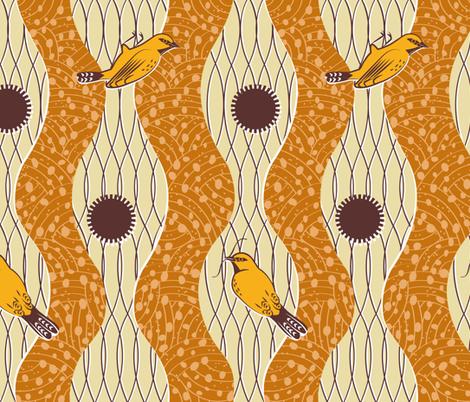 Weaver Bird Wax Cloth fabric by jenimp on Spoonflower - custom fabric
