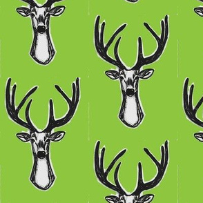 Lime green Sketchy Hipster Buck Stag Deer Antlers-ch-ch-ch-ch-ch-ch-ch-ch-ch-ch-ch-ch