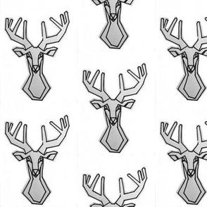 geometric Deer Buck Stag