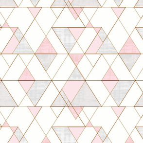Mod Triangles Pink Gray