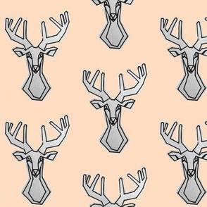 peach geometric Deer Buck Stag-ch-ch-ch-ch