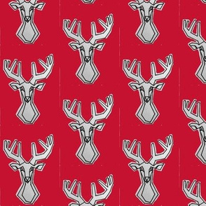Small red geometric Deer Buck Stag-ch-ch-ch-ch-ch