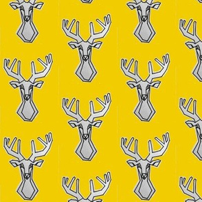 Small yellow geometric Deer Buck Stag-ch-ch-ch-ch-ch-ch-ch