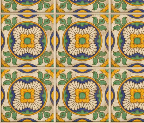 Jardín de Sol - Spanish Tile fabric by jewelraider on Spoonflower - custom fabric