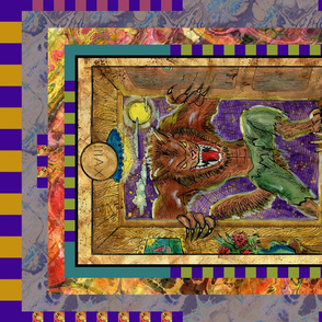 THE MOON WEREWOLF TAROT CARD PANEL MAJOR ARCANA