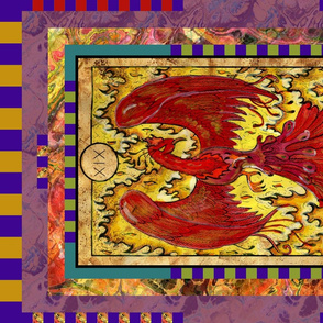 THE SUN PHOENIX TAROT CARD PANEL MAJOR ARCANA