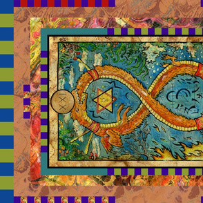 THE WORLD OUROBOROS TAROT CARD PANEL MAJOR ARCANA