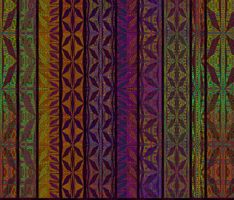 African stripes fabric by snarets on Spoonflower - custom fabric