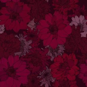 Red dahliablossoms