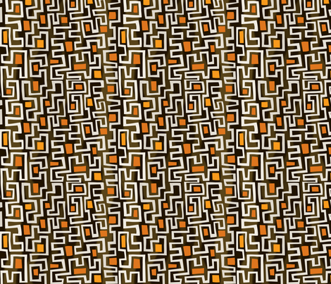 Kuba duba du - Cinder fabric by lily_studio on Spoonflower - custom fabric