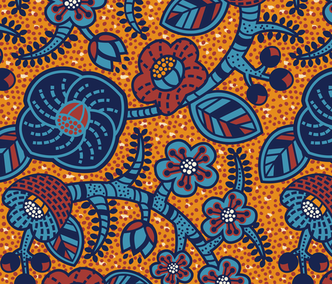 African Flora fabric by meliszawang on Spoonflower - custom fabric