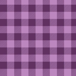 "3/4"" Plum + Wisteria Buffalo Plaid – Lumberjack Buffalo Check Baby Girl"