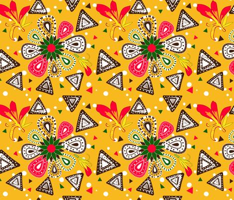 Africanpattern fabric by nici_gabriel_designs on Spoonflower - custom fabric