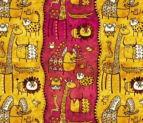 Wild Bunch fabric by monika_suska on Spoonflower - custom fabric