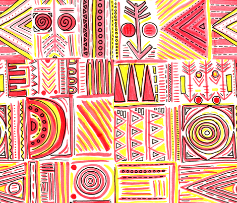 Geo Tribe fabric by lucykatedesign on Spoonflower - custom fabric
