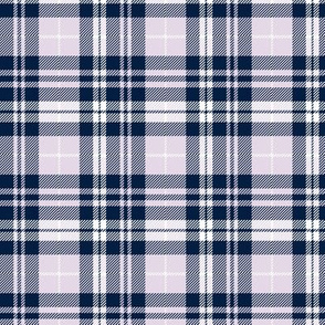 (small scale) fall plaid || navy,light lilac