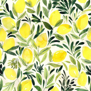 Lemons watercolor light