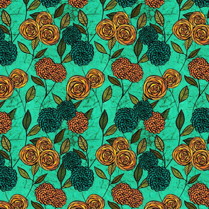 Turquoise Floral
