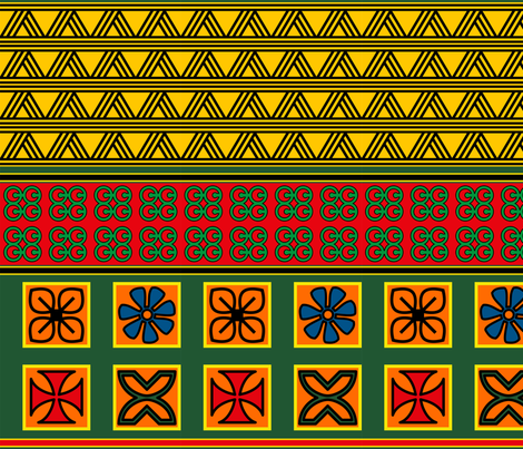 AfricanStrong2 fabric by soleilnou on Spoonflower - custom fabric