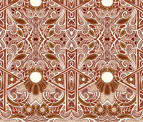 African Roots fabric by edsel2084 on Spoonflower - custom fabric