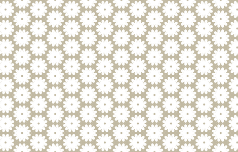 Retro Mod Garden M+M Latte by Friztin fabric by friztin on Spoonflower - custom fabric