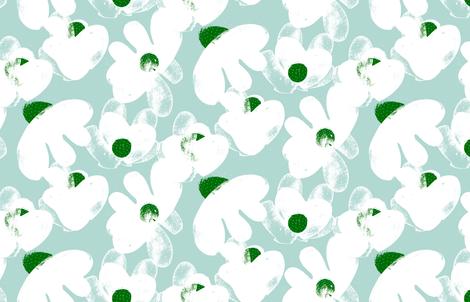 Wildflowers M+M Wintermint by Friztin fabric by friztin on Spoonflower - custom fabric