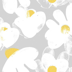 Wildflowers Grey M+M Yolk by Friztin