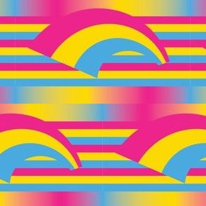 Pansexual Pride Flag with Rainbow