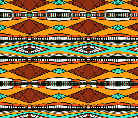 Traveling Africa sewindigo fabric by sewindigo on Spoonflower - custom fabric