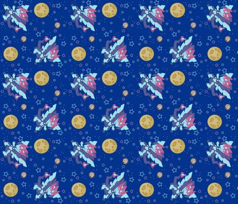 kaito- Dreamy Stars fabric by neonfi on Spoonflower - custom fabric