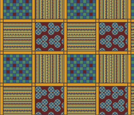 Joyful Checks Stripes and Circles fabric by mongiesama on Spoonflower - custom fabric