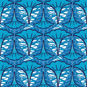 African inspired pattern in blue