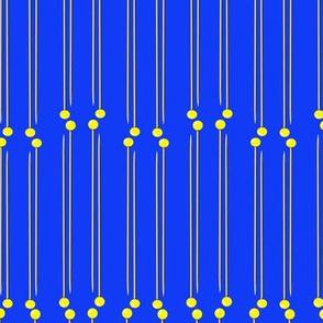 pin stripe royal and gold