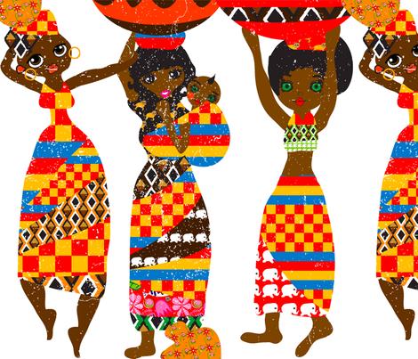 Water Ladies fabric by orangefancy on Spoonflower - custom fabric