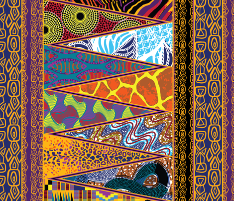 Pieces of Africa fabric by gcave on Spoonflower - custom fabric