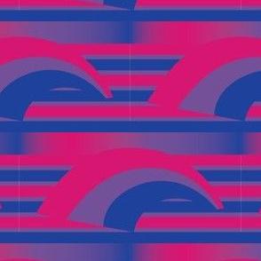 Bisexual Pride Pattern including Rainbow