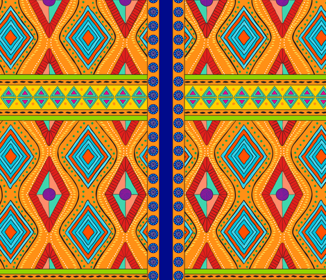 African Bead Design Final fabric by charlotte_mcferran on Spoonflower - custom fabric