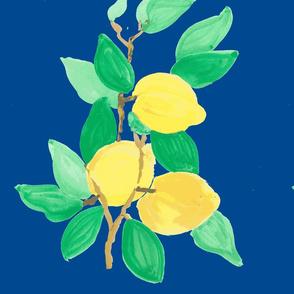 lemon bouquet on blue