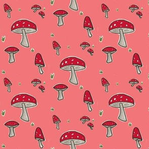 Red Toadstool Woodland Mushroom-ch-ch-ch-ch