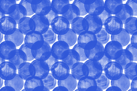 Watercolor Dots M+M Cobalt by Friztin fabric by friztin on Spoonflower - custom fabric