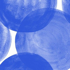 Watercolor Dots M+M Cobalt by Friztin