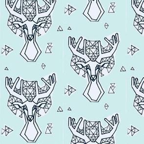 mint Geometric Dreamcatcher Stag Buck Deer Woodland Forest Dweller-ch