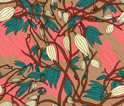 Cacao Fruits fabric by chawandesign on Spoonflower - custom fabric
